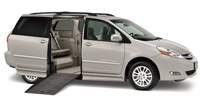 Toyota Sienna with side ramp