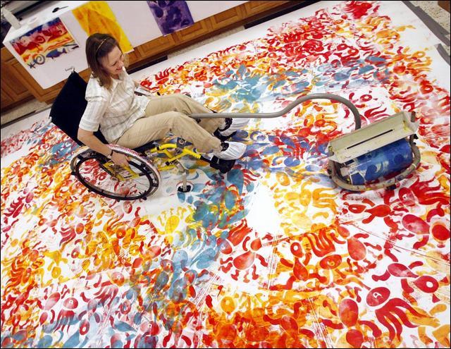 wheelchair art