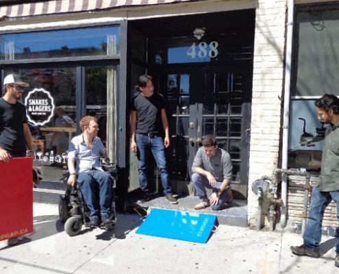 Ramping up Wheelchair Access