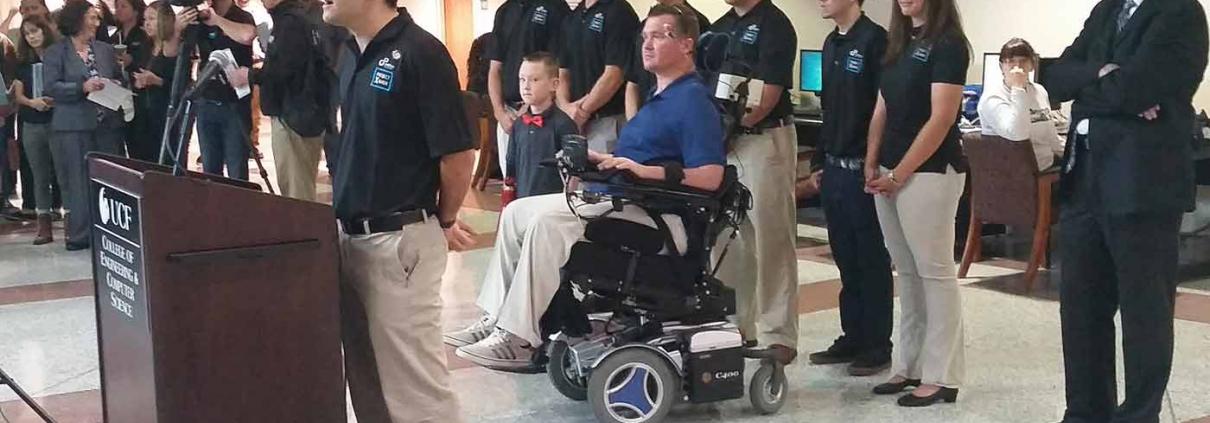 Limbitless facial recognition wheelchair