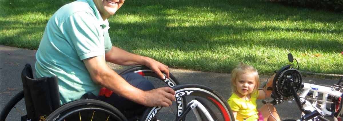 mike savicki in wheelchair